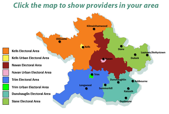 Map Of Co Meath Ireland.Home Meath County Childcare Committee